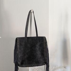 Shiraleah Bags - Steel Fringe Tote Bag